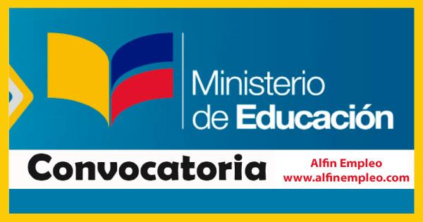 Ecuador ministerio de educaci n solicita personal 500 for Ministerio de educacion plazas